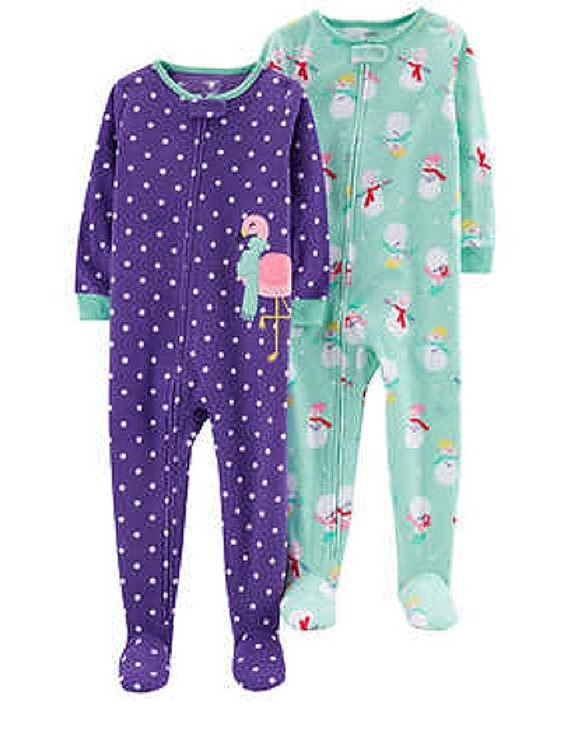人気定番 Carters Baby Months Girls' 2-Pack 2-Pack Fleece Pajamas SLEEPWEAR Carters ガールズ 18 Months Flamingo/Snowman B07NZ2HZP6, イチコネットショップ:13ec324e --- a0267596.xsph.ru