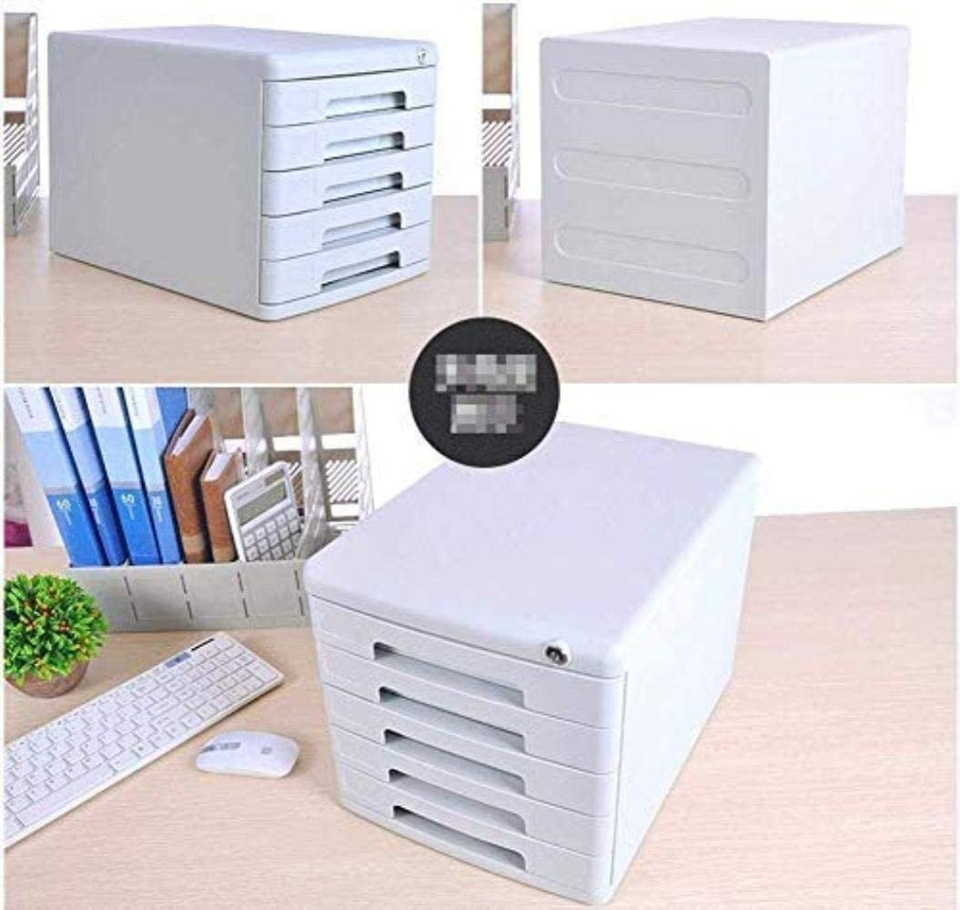 Size : 4-Layers File cabinet File Cabinet Comfortable Hand-Pull Design Landslide Track Drawer Convenient Collection Smooth Fashion Sense Independent Storage Plastic Office Supplies