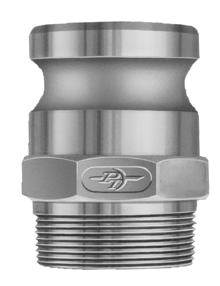 PT Coupling 1000680Basic Standard Series 80F Aluminum Cam and Groove Hose Fitting, F-Adapter, 8'' Adapter x NPT Male