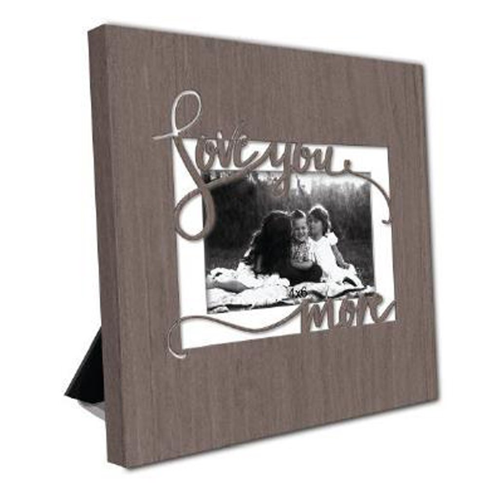 ReLive Decorative Expressions Laser Cut Wood Picture Frames (Love You More, 4x6)