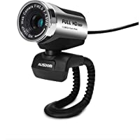 HD Webcam 1920x1080P, AUSDOM AW615 Computer Cameras with USB 2.0 Noise-cancelling USB Web Cam Camera for Online Video Calling, Recording on Desktop Laptop PC Skype Facetime Youtube Network