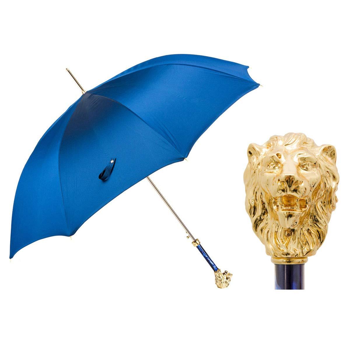 Pasotti Ombrelli Golden Lion Walking Stick Umbrella W37PB by Fama