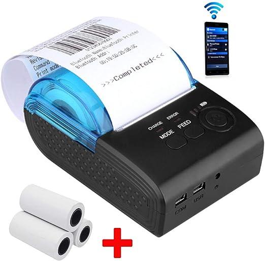 TXYJ Portátil Mini Impresora Tickets Térmica Bluetooth USB ...