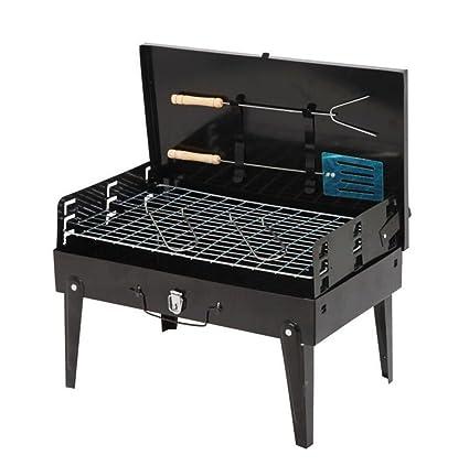LJXWH Parrilla al aire libre Parrilla de carbón portátil Parrilla de caja plegable Regalo Barbacoa (