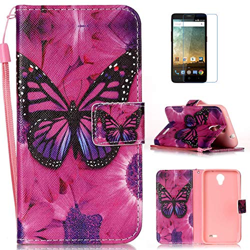 mellonlu Case for ZTE Prestige N9132 / Avid Plus Z828 / Maven 2 Z831 / Sonata 3 Z832, Flip PU Leather Fold Wallet Pouch Stand Magnetic Protective Phone Case Cover for ZTE Prestige N9132