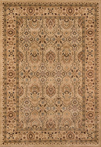 Rug By 05 Ivory (Momeni Rugs BELMOBE-05IVY3B57 Belmont Collection, Traditional Area Rug, 3'11