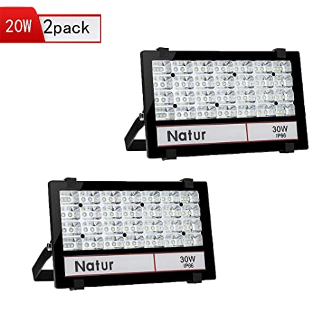 2X Natur 30W Foco LED Exterior Proyector,3000lm Blanco cálido ...