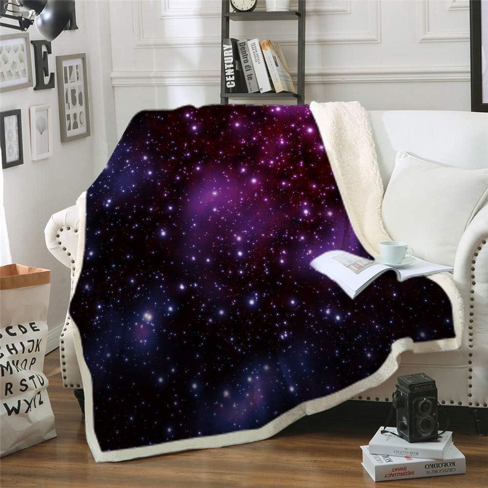 HKI Galaxy Comfort Warmth Soft Cozy Air Conditioning Machine Wash Fleece Blanket(Throw 60