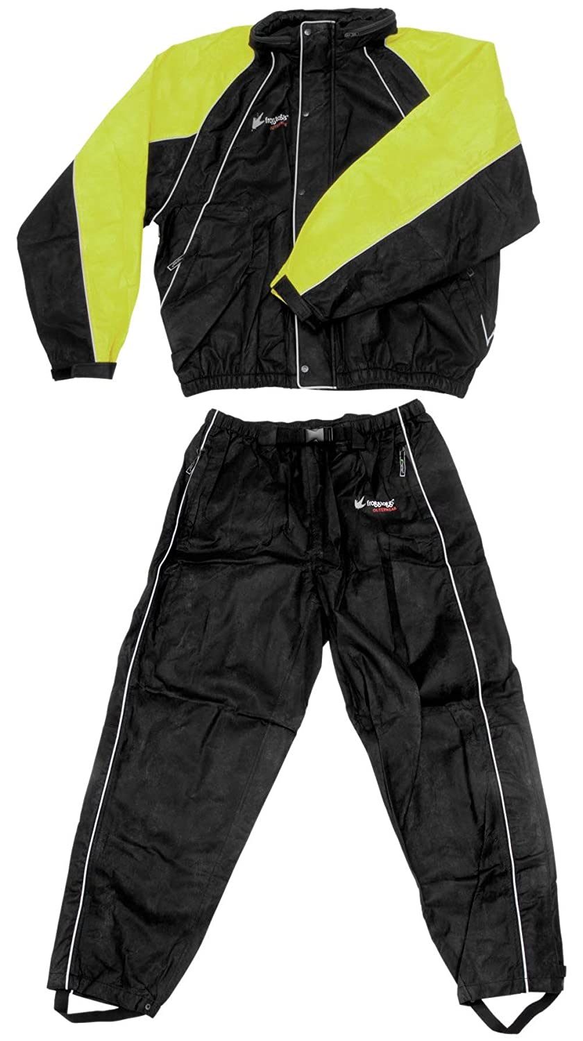 Frogg Toggs Hogg Togg Rain Suit S ブラック FT10322-48-SM B005FZXYK8 Black & Lime S