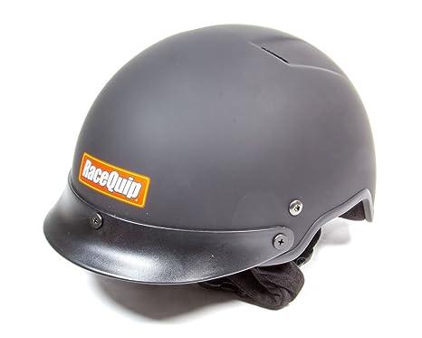 RaceQuip 251995 Flat Black Large Shorty Fire Retardant Crew Helmet Accepts Headsets