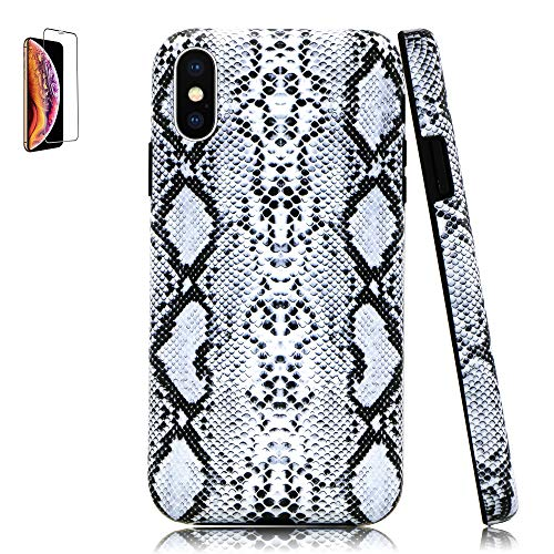 Lartin Cool Snakeskin Soft Flexible Jellybean Gel TPU Case for iPhone Xs Max
