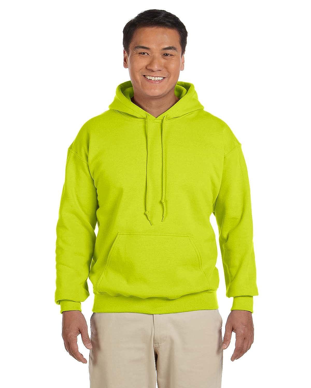 Gildan G18500 Heavy Blend Adult Hooded Sweatshirt 4XL Safety Green 2 Pack