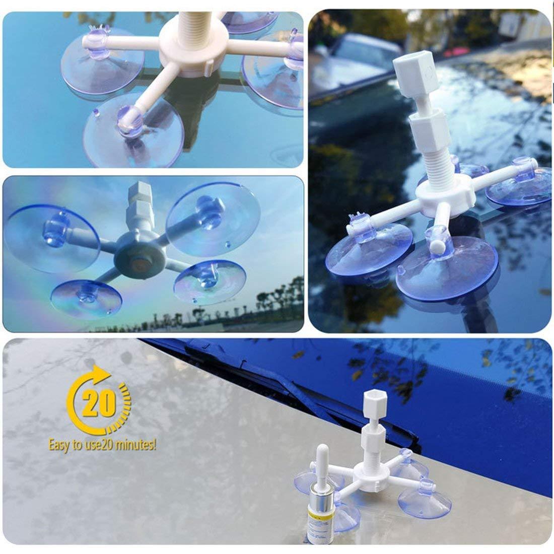 vbncvbfghfgh Kit di Riparazione Parabrezza Fai-da-Te Strumenti per la Riparazione di vetri per Auto Graffi in Vetro Ripristinare Il Parabrezza Crepe Set di Strumenti di Riparazione per lucidatura