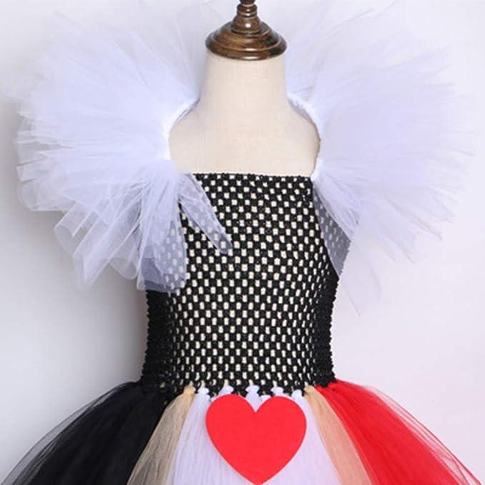 YANZZ Halloween Disfraz de Cosplay Infantil,Reina de Corazones ...