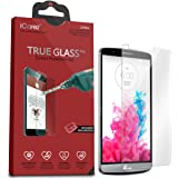 iCarez Tempered Glass Screen Protector for LG G3 Easy Install with Lifetime Replacement Warranty [1-Pack,0.3mm 2.5D 9H] - Retail Packaging