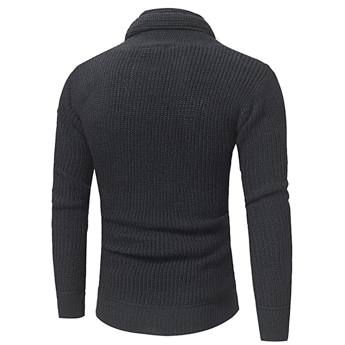 Mens Knitted Cardigan Thick Sweater Full Zip Wool Stand Collar Cardigans Coat Fleece Lined Goosun Long Sleeve Cardigan Autumn Winter Sweatshirt Zip Warm Outwear Jacket Coat