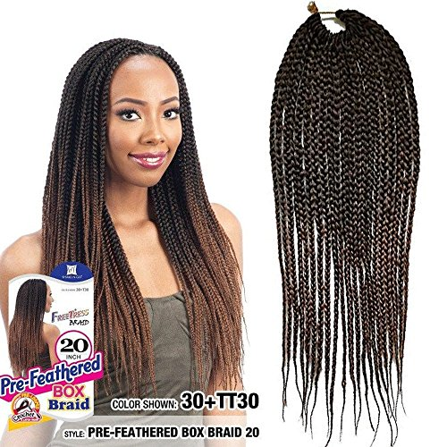 Flyteng 6packs box braids crochet hair 22 Strands/Pack Small Crochet Box Braids Synthetic Hair Extensions Crochet Braids Hairstyles Kanekalon Braiding Hair Braid Styles...