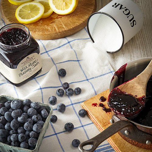 Stonewall Kitchen Jam Holiday Collections and Gift Sets - Multiple Flavors and Options (Blueberry, 1 Pack)