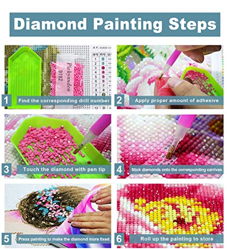 PICKYANDCO Butterfly and Love DIY 5D Diamond Painting by Number Kits Crystal Rhinestone 12x12inch, Full Drill 5D Diamond Painting Kits for Adults with Diamond Painting Tools Home Wall Art