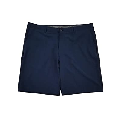 Ben Hogan Men's Performance Flat Front Active Flex Waistband Navy Short: Clothing