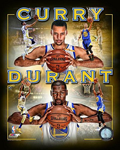 94ea4f45106b5 Golden State Warriors Stephen Curry & Kevin Durant Team Mate Collage ...