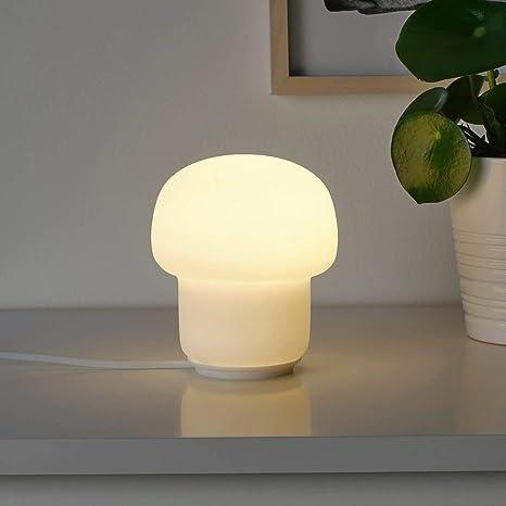 IKEA TOKABO - Lámpara de mesa, cristal blanco opalino: Amazon.es ...