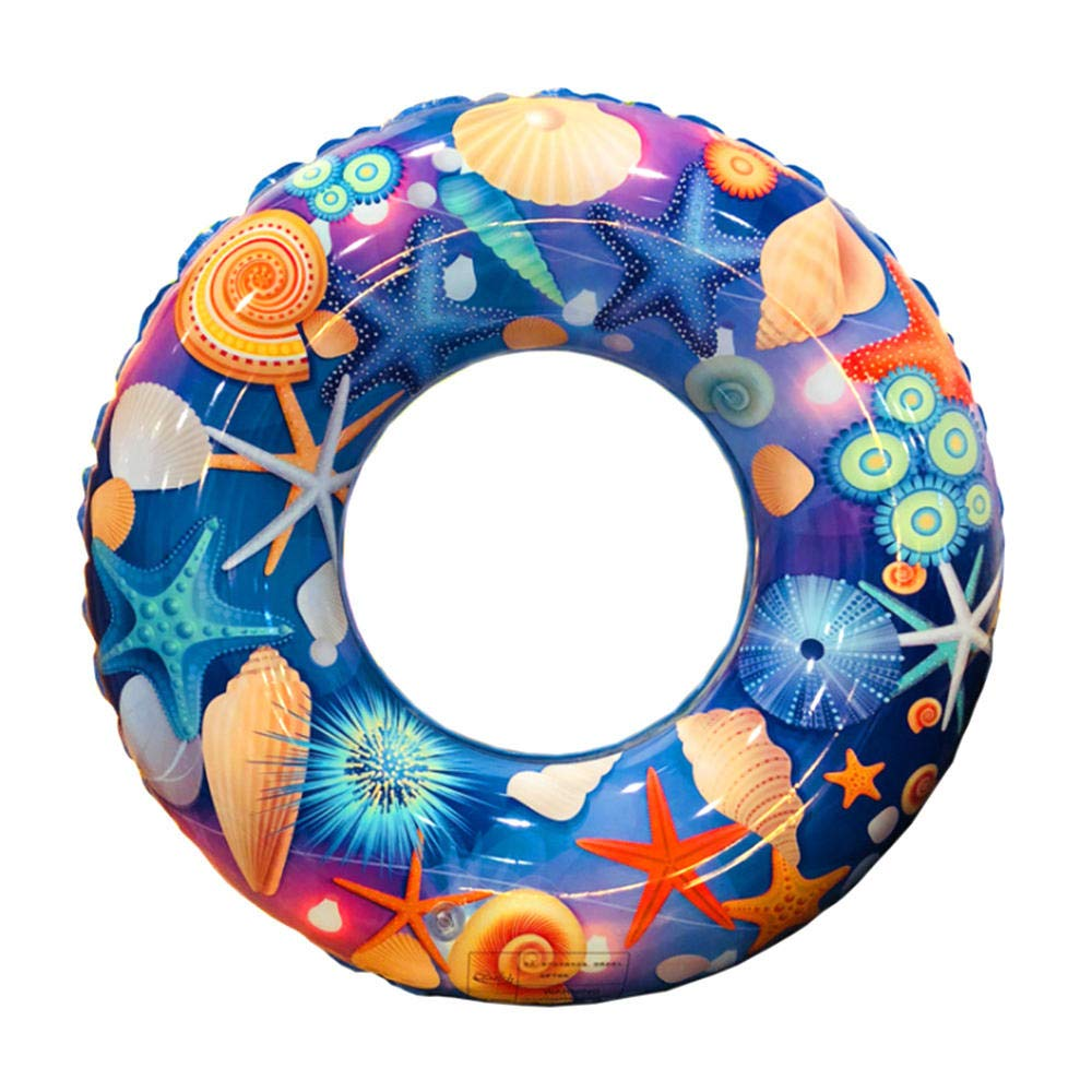 lulalula Anneau de Natation Gonflable Flottant pour Adultes, Enfants, étoile de mer, Bague de Natation d'été de Plage, Jouet de fête 85 cm/33.5 inch Bleu