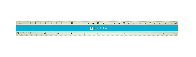 Semikolon 12 Inch Aluminum Ruler Turquoise