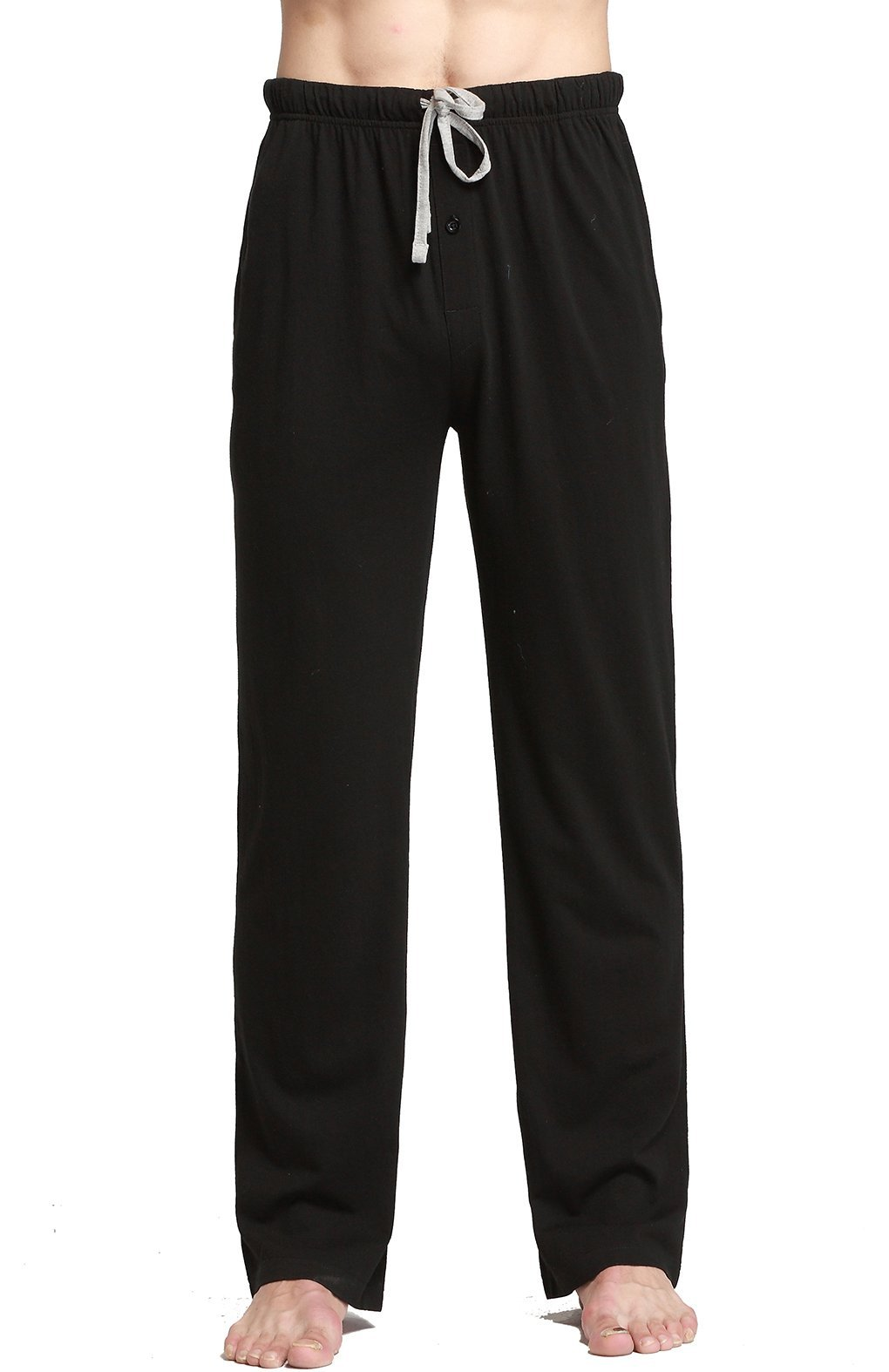 CYZ Cotton Knit Pajama Lounge Sleep Pants-Black-M by CYZ Collection