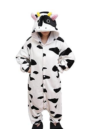 RubySports Women Mens Onesie Hoodie Pajamas Jumpsuit Playsuit One Piece  Costume Cow S b57925aee