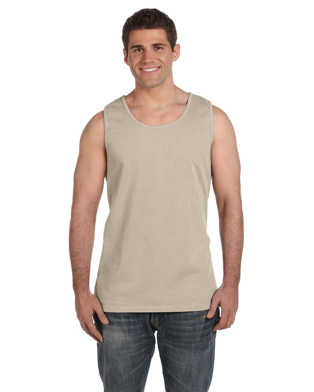 Comfort Colors Ringspun Garment-Dyed Tank, 2XL, SANDSTONE