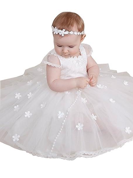 Amazon.com: kelaixiang bebé vestidos de niña para bautizo ...