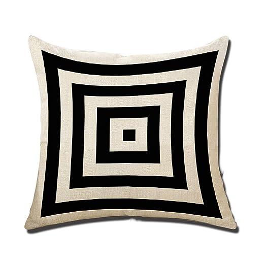 Decorativa almohada blanco y negro impresión Impreso Sofá ...
