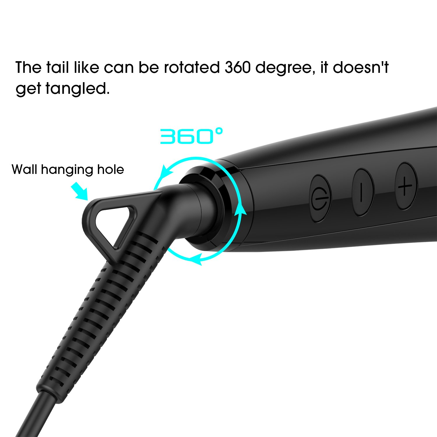 Enhanced Hair Straightener Brush by MiroPure, 2-in-1 Ionic Straightening Brush with Anti-Scald Feature, Auto Temperature Lock and Auto-off Function (Black) by MiroPure (Image #5)