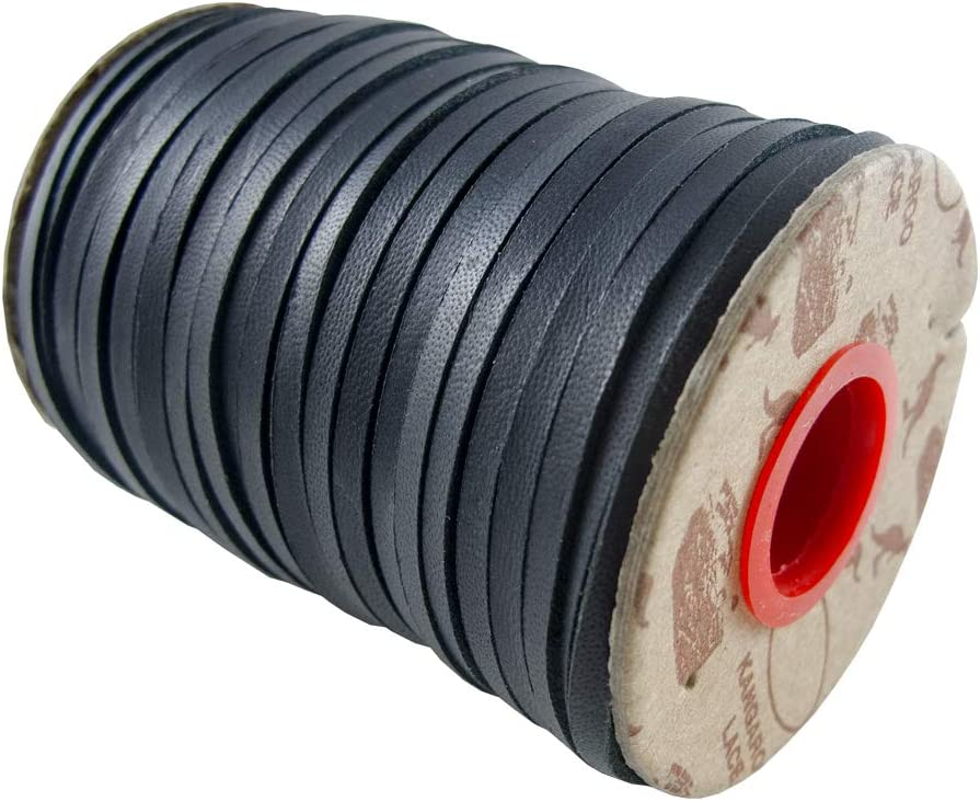 Springfield Leather Company Earth Tone Kangaroo Lace LHG Black, 1//4 25 Yards