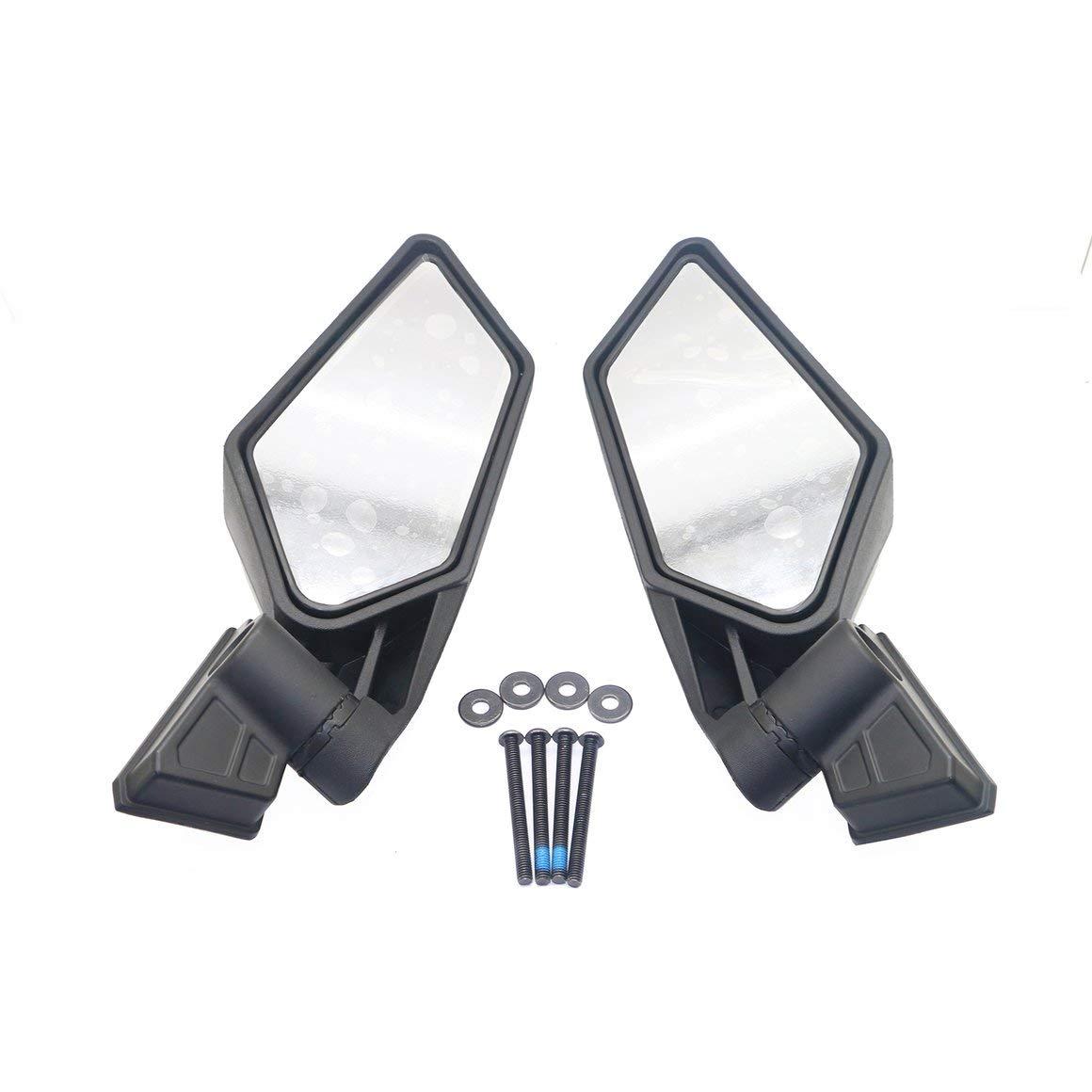negro Funnyrunstore 1 par de espejos retrovisores Shock Proof Racing UTV Espejos laterales para UTV Can-Am Maverick X3 Accesorios todo terreno