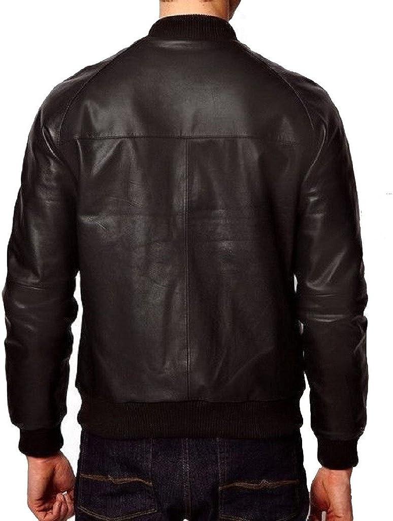 Men Slimfit Genuine Cow Leather Designer Coat Motorcycle Biker Jacket Overcoat KC454