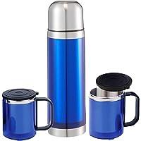 Unique Home LT-865-MAV Outdoor Çantalı Termos ve Mug Set, Mavi