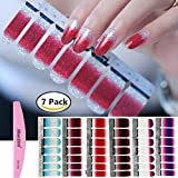 hot glue plate - BlueZOO 1PC Nail Buffer File with 6 Different Sheets Shinny Full Nail Art Tips Stickers False Nail Design Manicure Sets(Style 2)