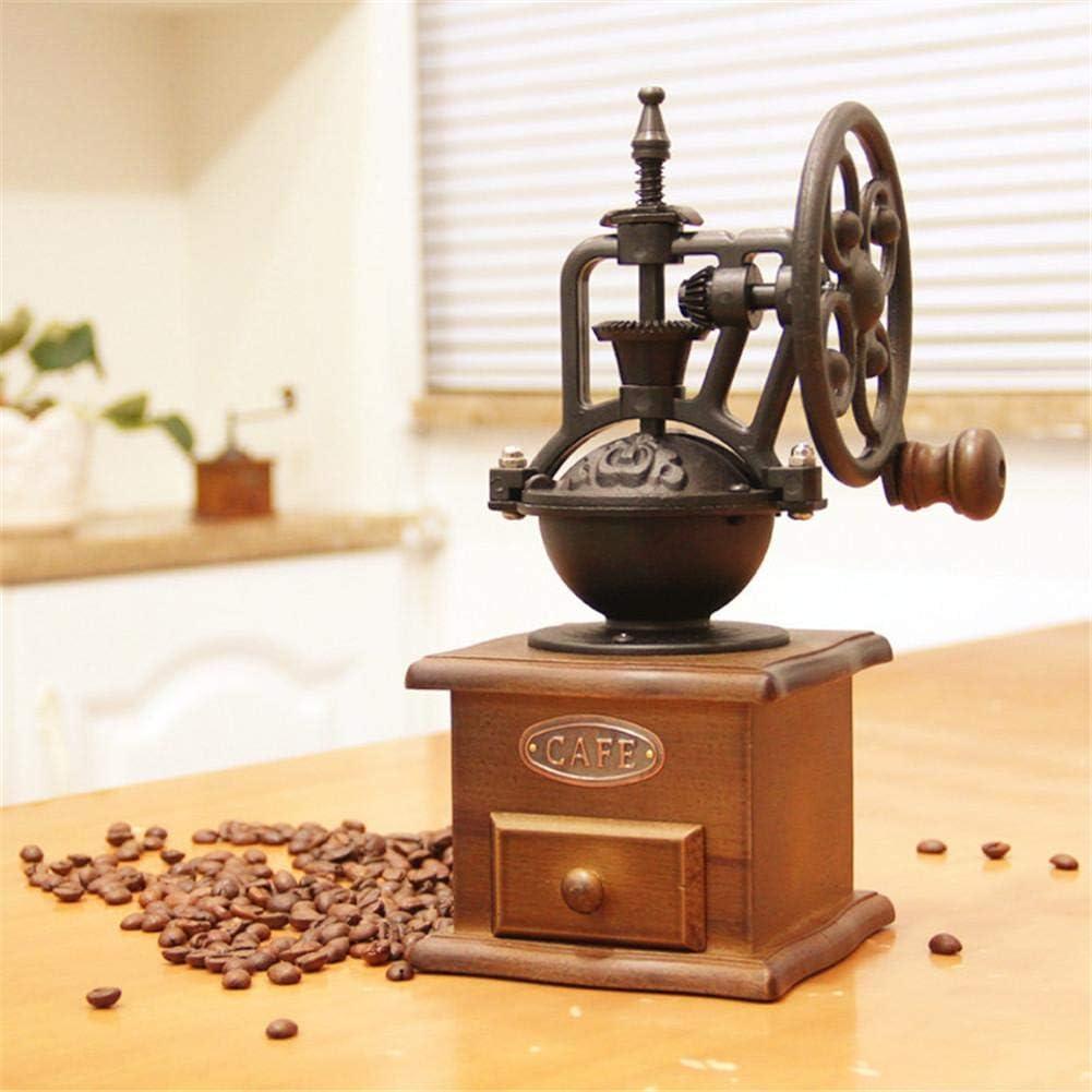 Graines De Caf/é Noix /Épices Lin Poivre Riosupply Moulin /À Caf/é Manuel Grande Roue R/étro Moulin /À Main Noyau De Broyage en C/éramique Moulin /À Caf/é Amandes