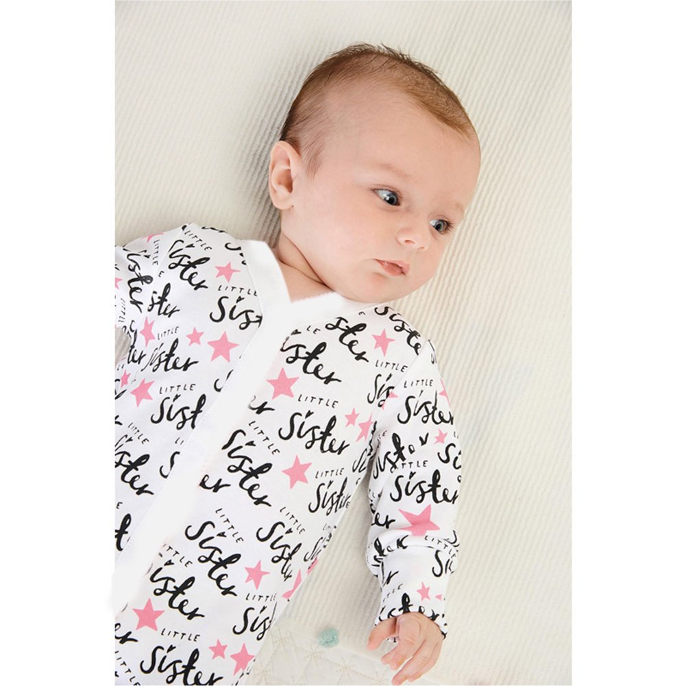 amazingdeal Baby Infant Toddlers Long Sleeve Letter Print Rompers Jumpsuit Bodysuit
