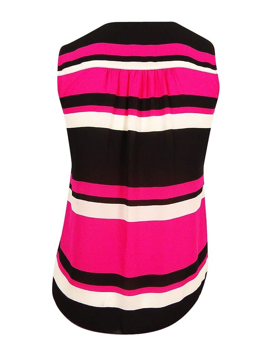 4d391c825e022 INC International Concepts Women s Front-Zip Striped Blouse (18W ...