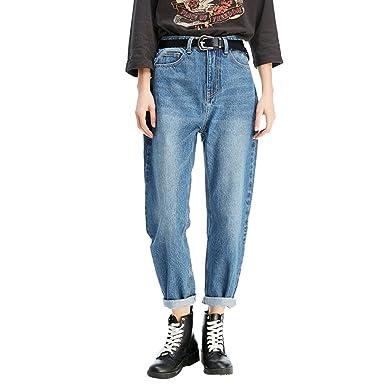 f8ce49b152f278 Image Unavailable. Image not available for. Colour: Zhiyuanan Women Boyfriend  Jeans Large Size Baggy Denim ...