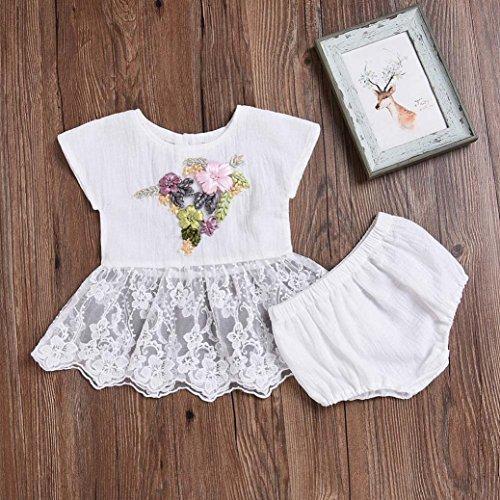 0490c525c Delicado Ropa Para niñas,RETUROM Bebé niñas, bordado 3D encaje floral, Tops  vestido