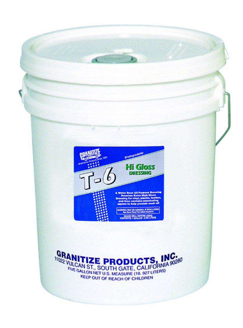 Granitize T-6 Auto High Gloss Dressing - Rubber-Vinyl-Plastic - 5 Gallon T-6/5