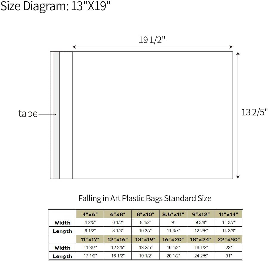 Pack of 25 6 1//2 x 8 1//3-1.496mil Crystal Sealed Bags for 6 x 8 Artwork