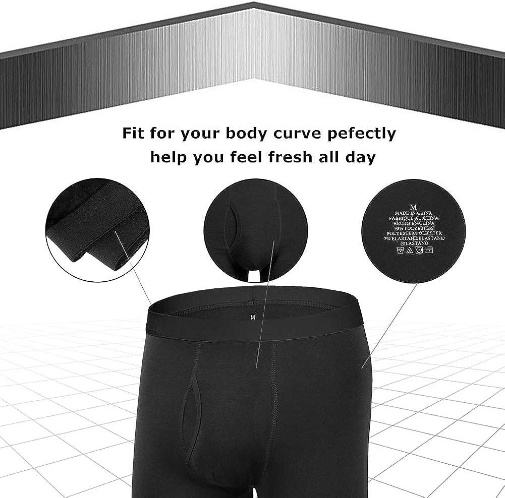 Natural Feelings Mens Underwear Boxer Briefs Cotton Stretch Regular Long Leg Boxer Briefs Underwear Men Pack