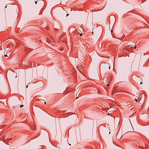 Tempaper FL10538 Flamingo Removable Peel and Stick Wallpaper, 20.5