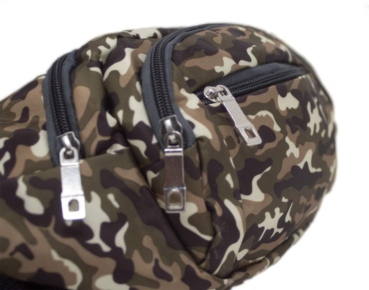 Ri/ñonera Camuflaje Multifuncional t/áctica Bolsa Cintura Cadera Bandolera Militar Caza Aire Libre Airsoft Color 1