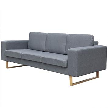 vidaXL Polstersofa 3-Sitzer Stoffsofa Loungesofa Couch ...